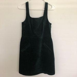 Topshop Cord Open Back Pinafore Dress